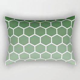 Green gradient honey comb pattern Rectangular Pillow