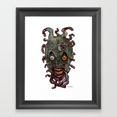 Heads of the Living Dead Zombies: Tentacle Zombie Framed Art Print
