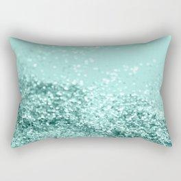 Summer Vibes Glitter #7 #mint #shiny #decor #art #society6 Rectangular Pillow