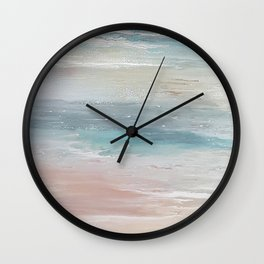 Sea breeze, acrylic on canvas Wall Clock