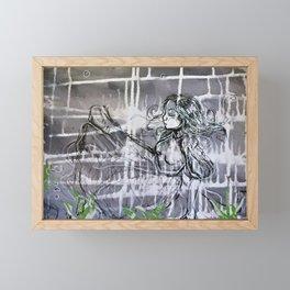 Alice under water Framed Mini Art Print
