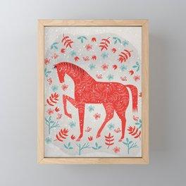 The Red Horse Framed Mini Art Print