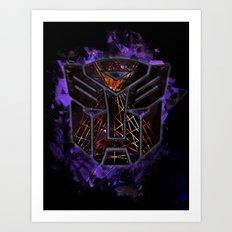 Autobots Abstractness - Transformers Art Print
