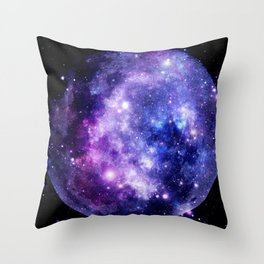 Galaxy Planet Purple Blue Space Throw Pillow