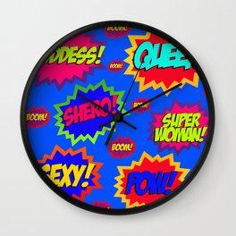 SUPERWOMAN! Wall Clock