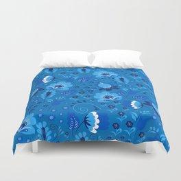 Gzhel - blue Duvet Cover