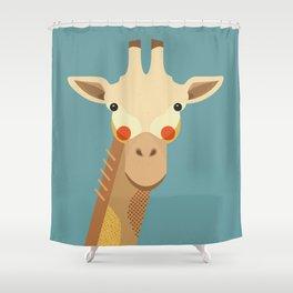 Giraffe, Animal Portrait Shower Curtain