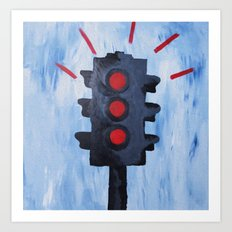 Stop.  Art Print