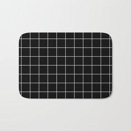 Grid Simple Line Black Minimalist Bath Mat