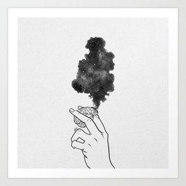 Burning mind. Art Print
