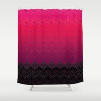 rothko Shower Curtains featuring ELENA PATTERN - FLAMENCO VERSION by TotalBabyCakes