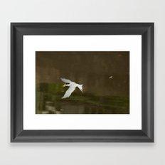 Gone fishing. Framed Art Print