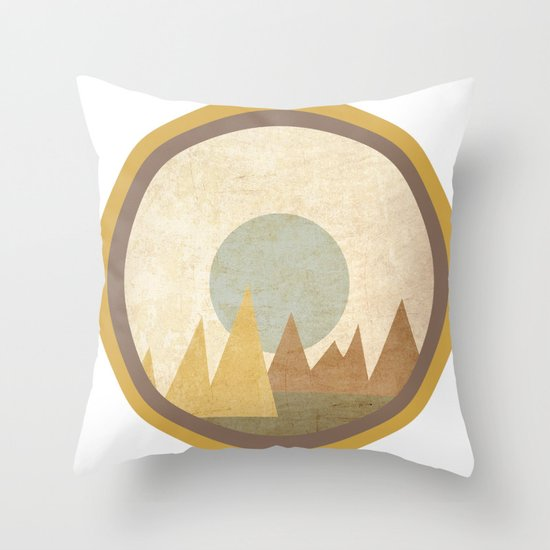 Moon & Mountains Throw Pillow