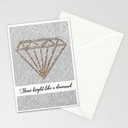 Glitter Diamond Stationery Cards