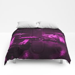 Glowing Purple  Mushrooms Comforters