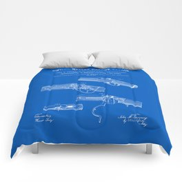 Breech Loading Rifle Patent - Blueprint Comforters