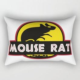 mouse rat logo jurasic parody Rectangular Pillow