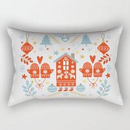Laplander Winter Holiday Rectangular Pillow