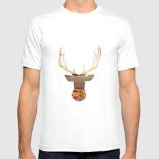 deer lake Mens Fitted Tee White MEDIUM