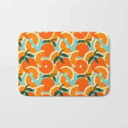 Orange Harvest - Blue Bath Mat