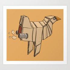 Space Chicken Art Print