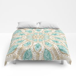 MMMOYSTERS Gold-Rimmed Oyster Mandala Comforters