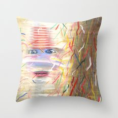 White Dreamer Throw Pillow