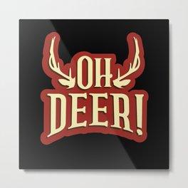 Hunter Deer Hunting Metal Print