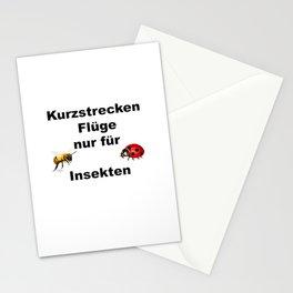 Kurzstrecken Flüge nur für Insekten Stationery Cards