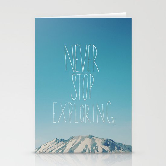 Never Stop Exploring: Mount Rainier Stationery Cards