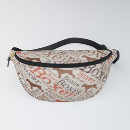 Boxer dog Word Art Fanny Pack