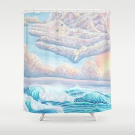 Les anges gardiens de l'amour Shower Curtain