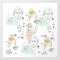 minimal summer Art Print