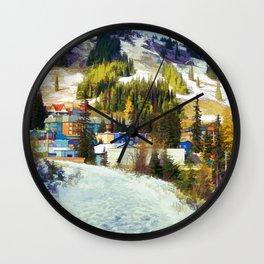 Mountain Haven Wall Clock
