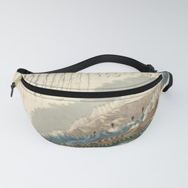1854 Comparative Lengths of Rivers and Heights of Mountains Fanny Pack