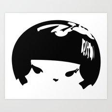 Kokeshi Head Logo Design Art Print