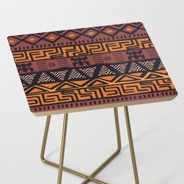 Tribal ethnic geometric pattern 021 Side Table