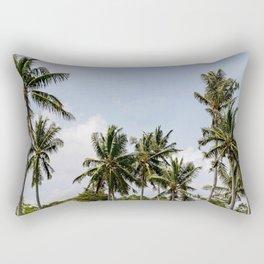 Tall Tropical Palm Trees Photograph Rectangular Pillow