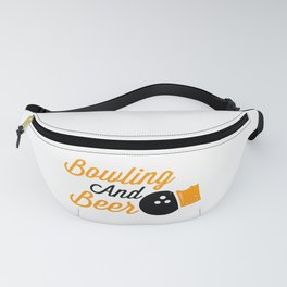 Bowling And Beer Funny Gift For Bowlers Fanny Pack
