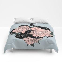 Celestial Snake in Blue Original by Moon Goddess Market Comforters