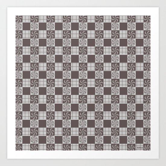 pattern (vintage swirl#1) Art Print