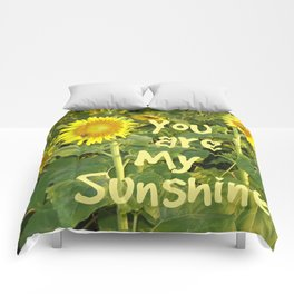 Sunflower Art // You are My Sunshine, Art with Bees Comforters