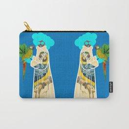 Bird Coat Blue Carry-All Pouch