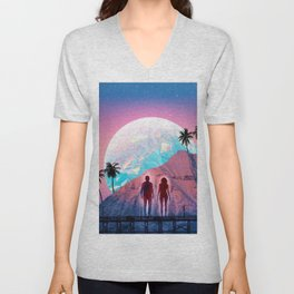 HOLO MOON Unisex V-Neck