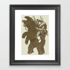 Bearpoleon Framed Art Print