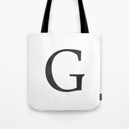Letter G Initial Monogram Black and White Tote Bag