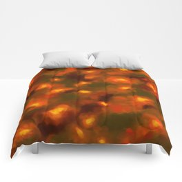 Glowing Ember Floral Abstract Comforters