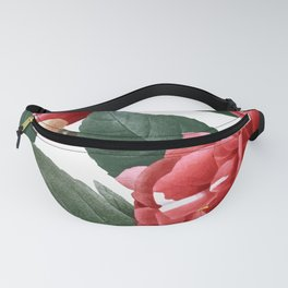 RED FLOWERS - digital Fanny Pack