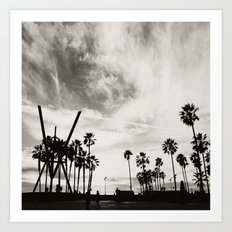 Venice beach. B&W Venice. Art Print