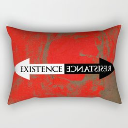 The Existence is Resistance Rectangular Pillow